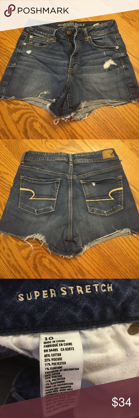AE jean shorts Super soft denim America Eagle denim cut-off shorts. Perfect for summer! American Eagle Outfitters Shorts Jean Shorts