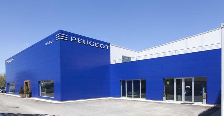 Bianco e blu nei rivestimenti e pannelli di tamponamento Baraclit per i colori distintivi di Peugeot