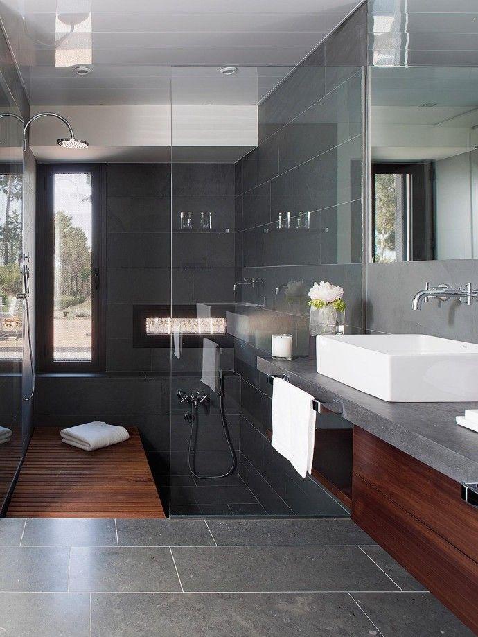 255 best salle de bain images on Pinterest Bathroom, Design - salle de bain ardoise