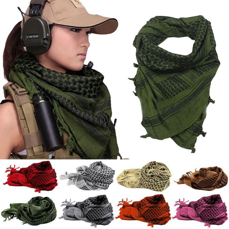 Shemagh Thicken Muslim Hijab Multifunction Tactical Scarf Neck Arabic Keffiyeh Wrap Bandana Palestine Islamic Military Scarves