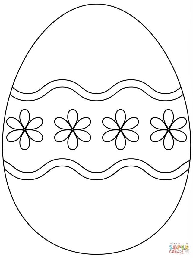 21 Excellent Picture Of Easter Egg Coloring Page Easter Egg