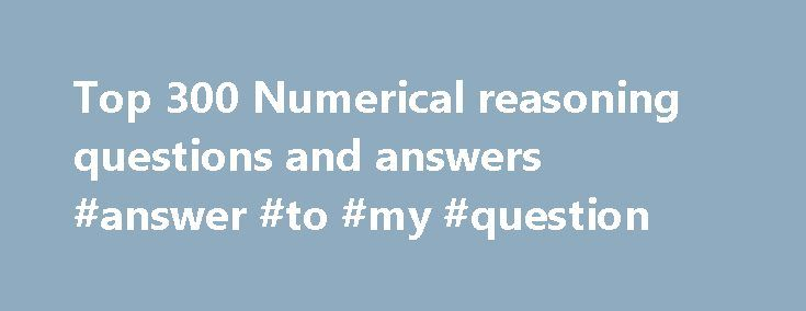 numerical ability questions and answers pdf