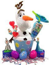 Disney's Frozen Easter Basket with Olaf Toy Lollipops and Candy Dispensers