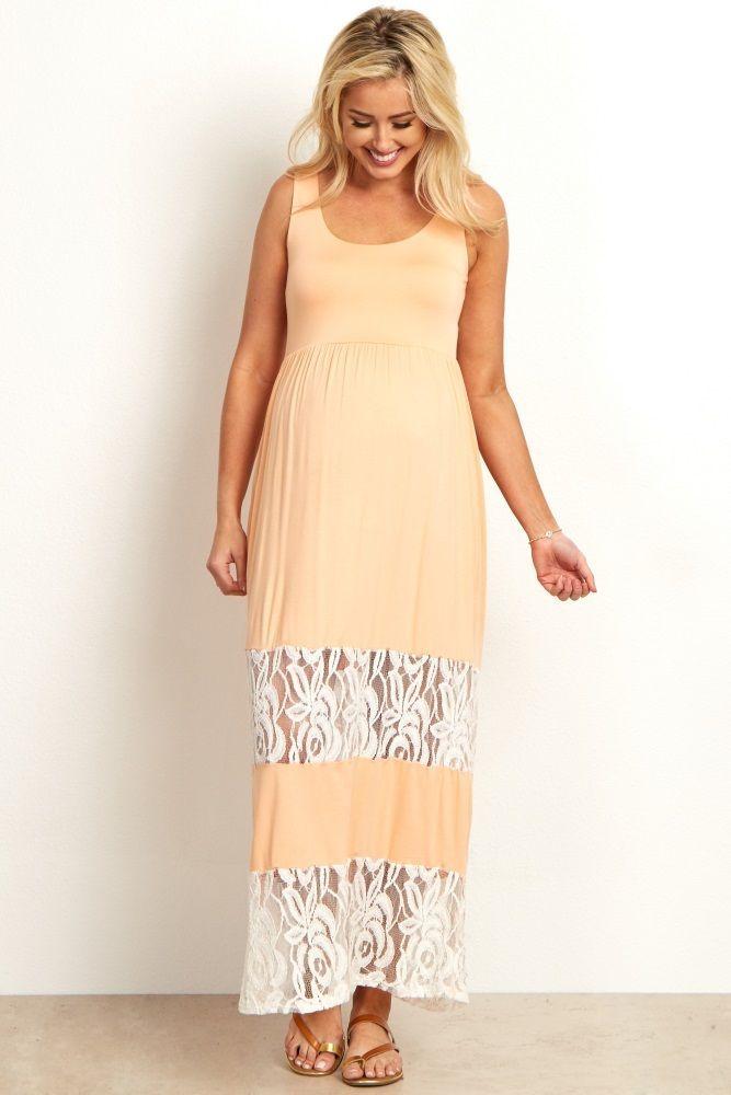 Cute Maternity Beige Summer Dresses