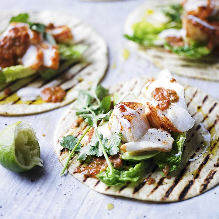 Love fajitas? Why not try our spiced fish tortilla recipe with burnt chilli sauce, avocado and coriander. To cool down the spices, why not serve this dish with lettuce and lime wedges.