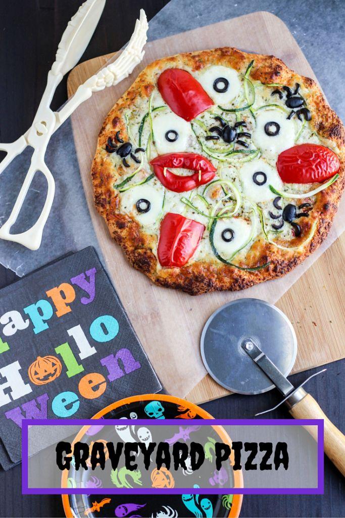 halloween graveyard pizza - Halloween Buffet Food Ideas