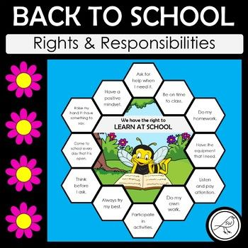 An effective activity for your students when you are setting up your classroom culture at the beginning of the year. Something a little different to the standard 'classroom rules' discussions. The activity focuses on 4 RIGHTS that your students have at school: ♦