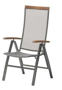 Regulerbar stol LARVIK FSC-hardtre/alu | JYSK