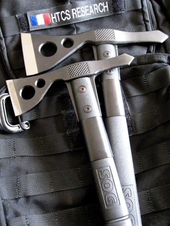 SOG FastHawk Axe F06TN-CP - Hardcased Black, 420 Stainless Steel, GRN Handle, Nylon Sheath
