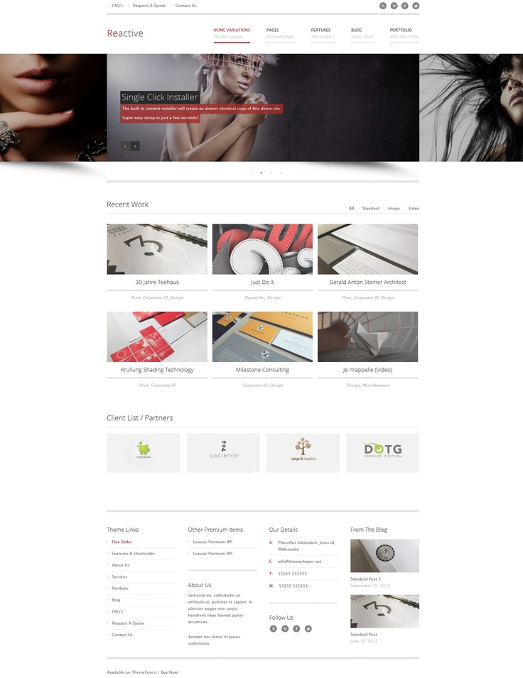Delta Responsive, Corporate, Wordpress Template themeforest - client list template