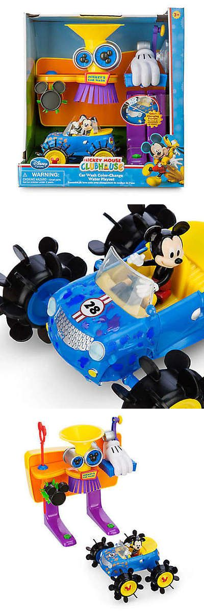 Mickey 19219: Disney Store Mickey Mouse Clubhouse Car Wash Color Change Water Playset Nib -> BUY IT NOW ONLY: $37.99 on eBay!