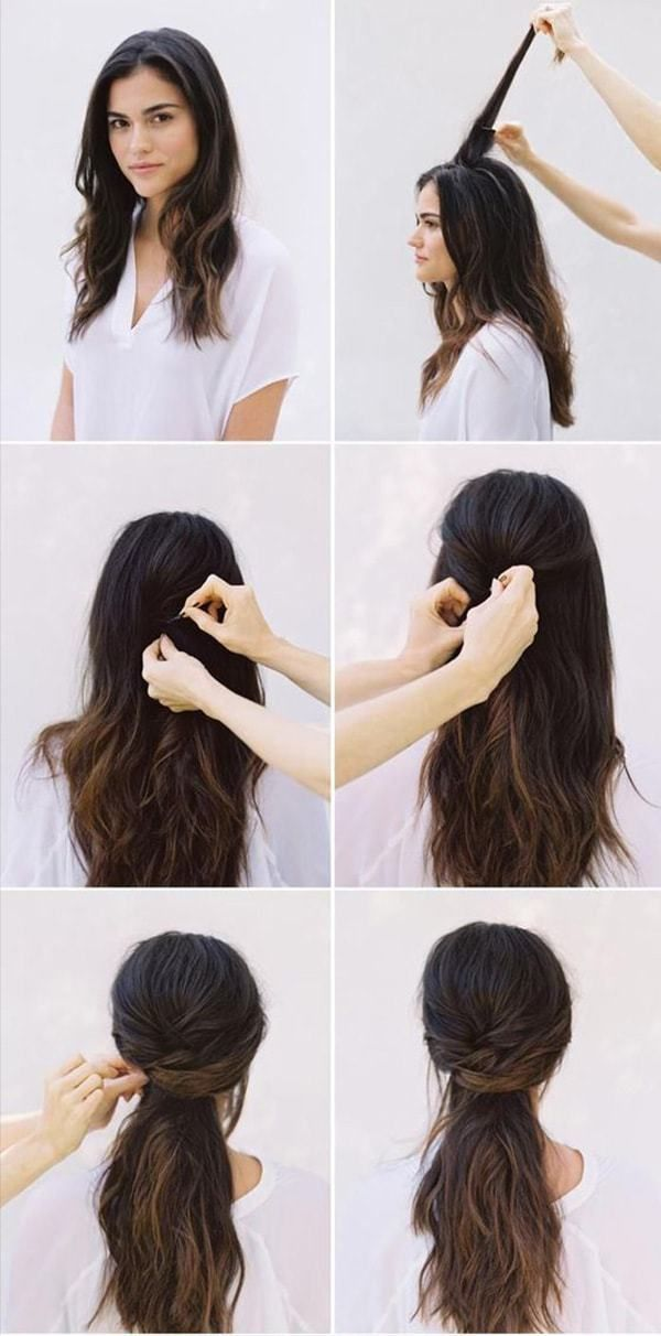 Hairstyles Step By Step Very Simple And Beautiful For School
