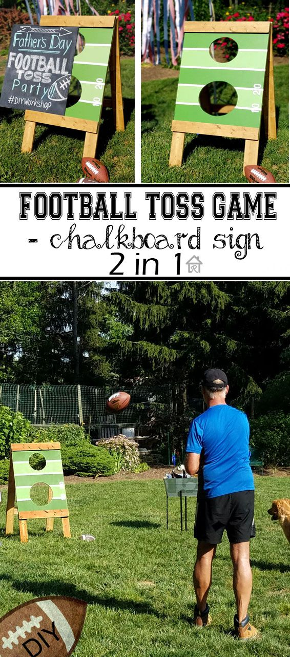 Remodelando la Casa: Father's Day Football Toss - THD DIY-Workshops