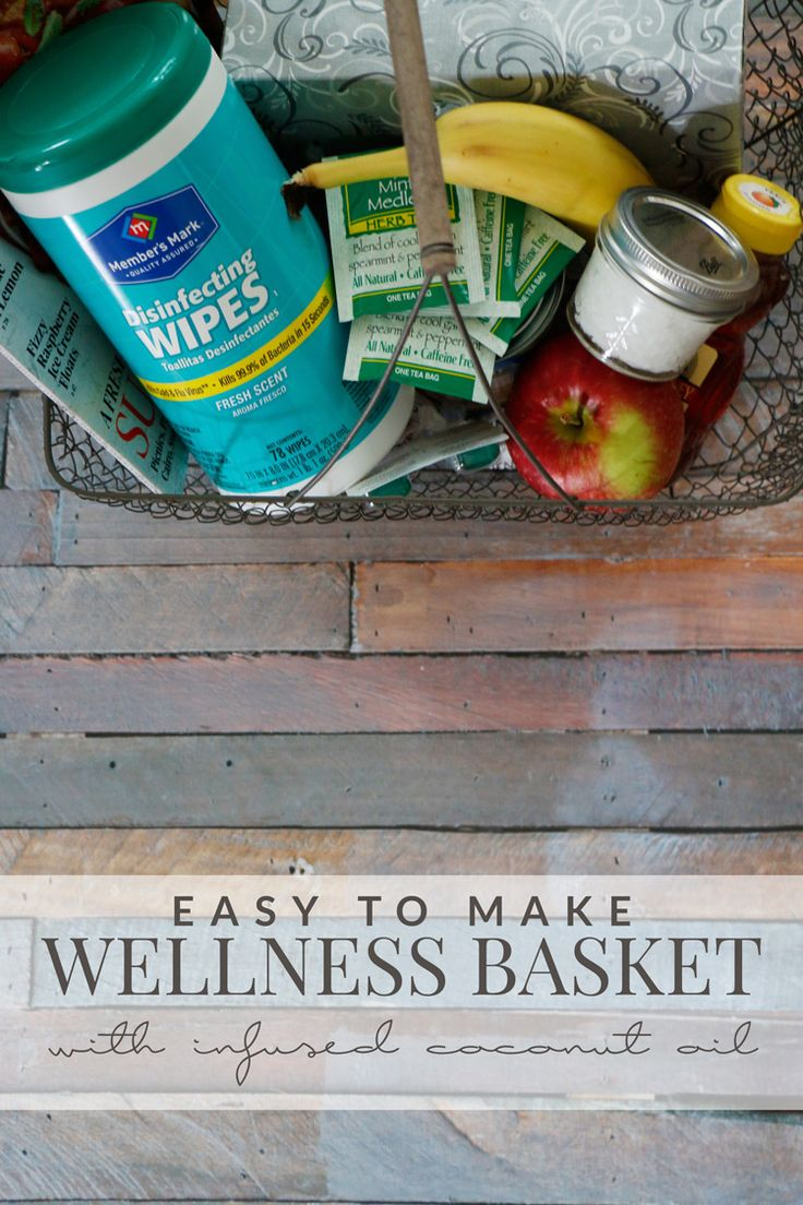 This easy wellness basket DIY is perfect to give to loved ones who are under the weather or to keep on hand for yourself to prevent illnesses! #SamsClubMag @Samsclub [ad]