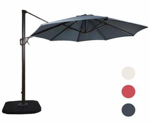 11 Feet Aluminum Cantilever Umbrella Outdooor