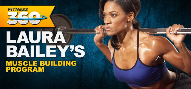 laura bailey muscle building