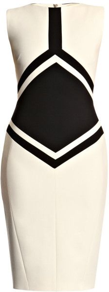 Antonio Berardi Black Diamond Wool Dress. wow! probably the ONLY white dress I would wear!