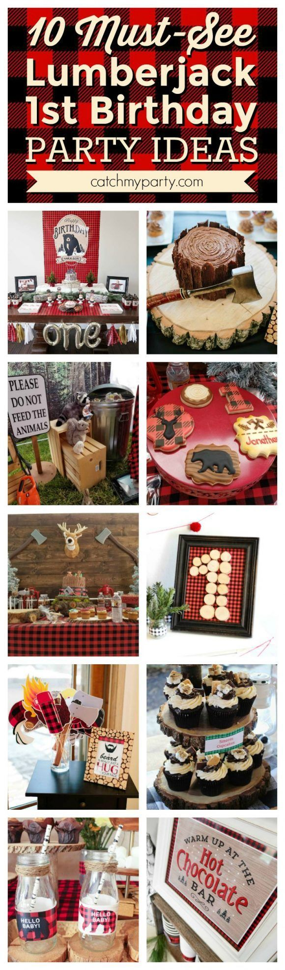 If you're planning a Lumberjack party then you're going to love these lumberjack 1st birthday party ideas I've picked out for you. Lumberjack 1st birthday parties are a really popular theme on Catch M