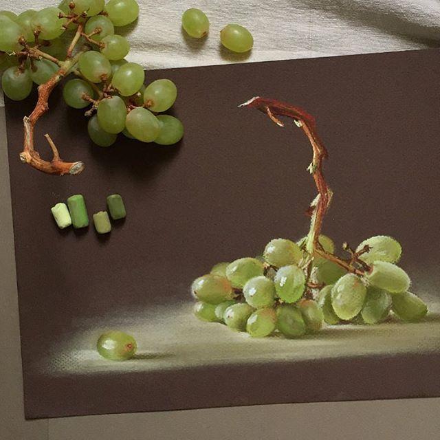Pastel, grapes