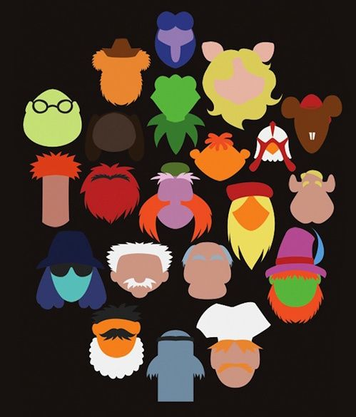 muppets  http://graphicdesigncollections.blogspot.com could totally do a folder game emotions and these guys.