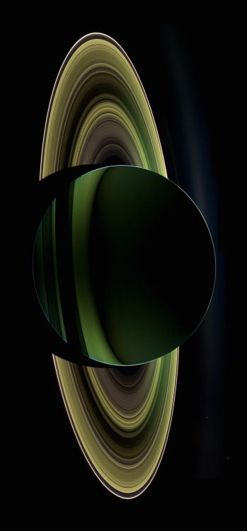 Backlit Saturn - Seen from the Cassini Spacecraft