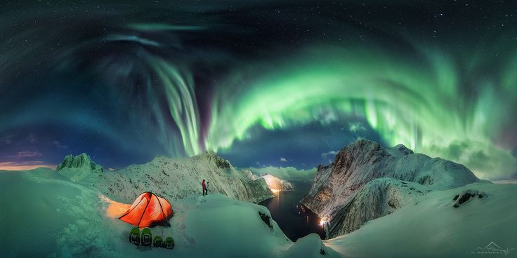 "The Lady in Green - Order my NEW BOOK FACEBOOK HOMEPAGE INSTAGRAM I have already shown you a panorama from this point some weeks before. However, this 360° panorama is taken only minutes after the first one and from a different POV as the lights went crazy and were ""burning"" all over the sky . I admit I am such an addict to the northern lights. Though I have already seen the ""lady in green"" several dozen times in my live, it´s an indescribable experience every single time."