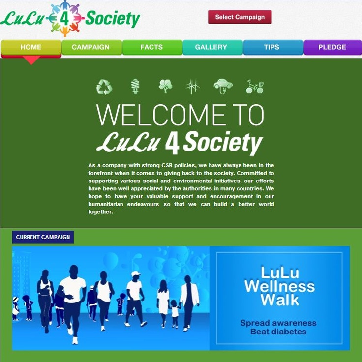 Know all about the social causes the LuLu group has undertaken, through their newly launched CSR Tab http://on.fb.me/Z89zJo