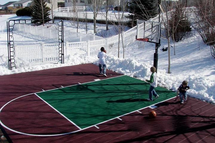 36 best backyard basketball courts images on pinterest for How to build your own basketball court
