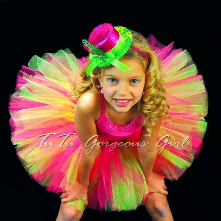 Hot Pink And Black Bedroom Punk Girly: Hot Pink And Lime Green Birthday Tutu...Women's Color Run