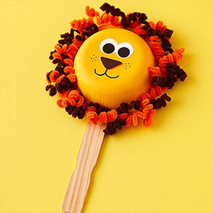 Paint a paper bowl and twist chenille stems for a make-believe mask!