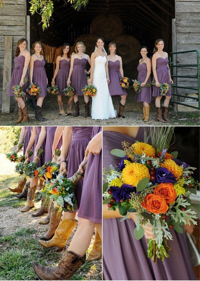Perfect wedding color combination, minus the cowboy shoes