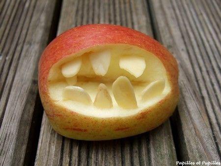 #Recette #pommes mordantes d'#Halloween