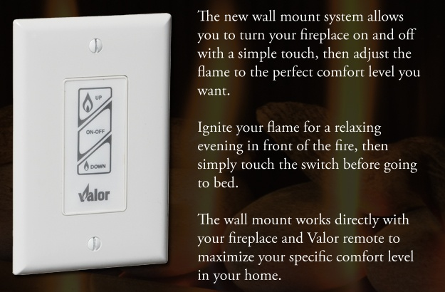Optional Valor Wall Mount Switch Fireplaces L1 Linear - Wall Switch For Gas Fireplace BestFireplace 2017