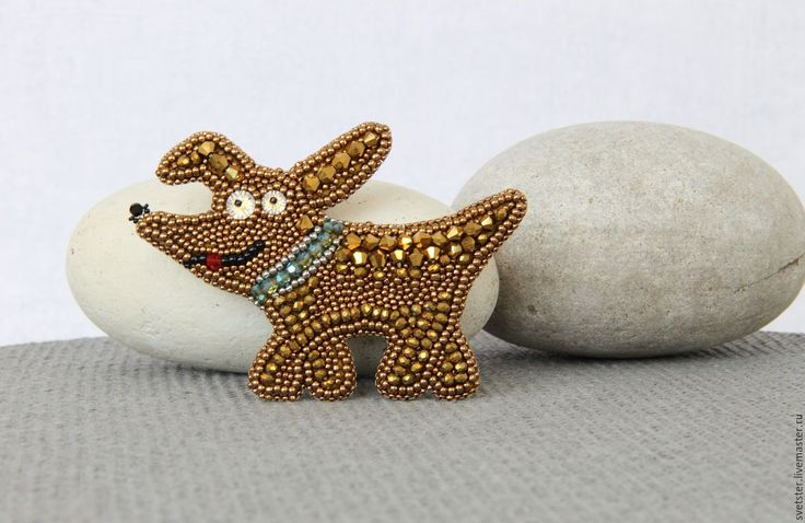 Buy Brooch Dog Susan - brooch, brooch dog, dog, brooch handmade, handmade jewelry