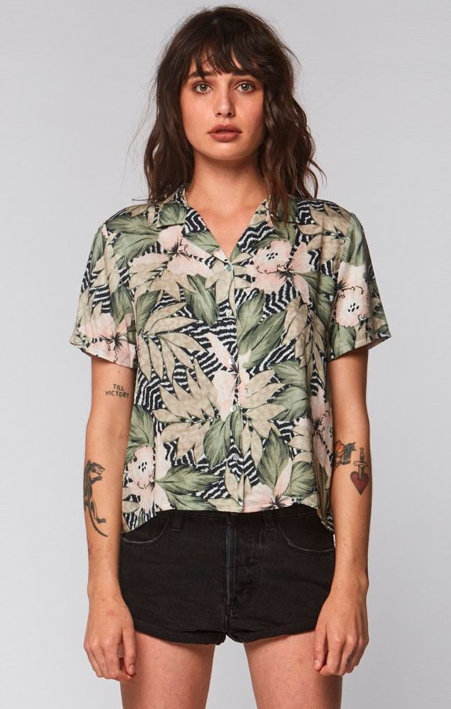 Thrills - Zebra Floral Shirt