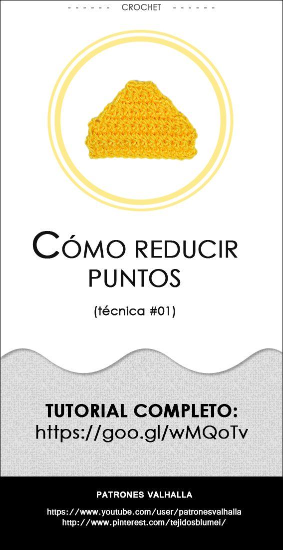 Cómo reducir puntos en crochet (técnica #01) | PATRONES VALHALLA // Patrones gratis de ganchillo