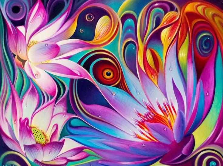 cuadros-al-oleo-de-pinturas-modernas-con-flores