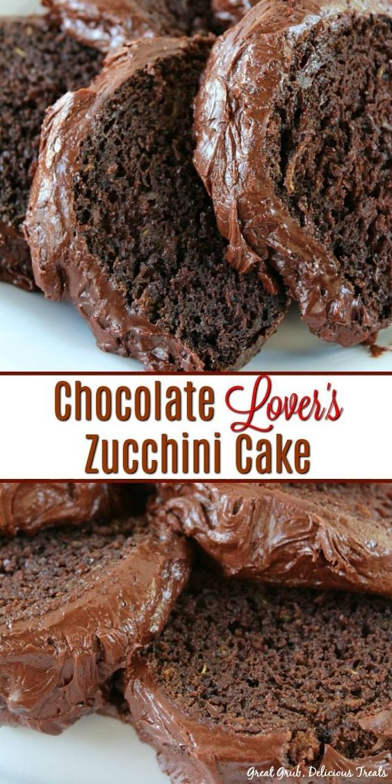 Chocolate Lover's Zucchini Cake is pure chocolate heaven. So chocolaty and a dec…  – Recipies