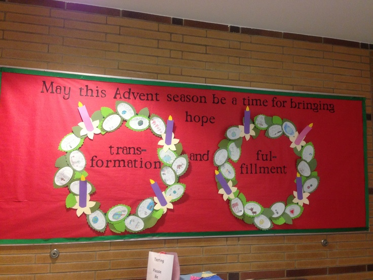 advent bulletin boards we created this board for a catholic school at christmas 10024