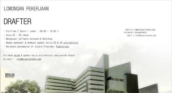 Loker Drafter Arsitektur. ~ Teknologi Konstruksi Arsitektur