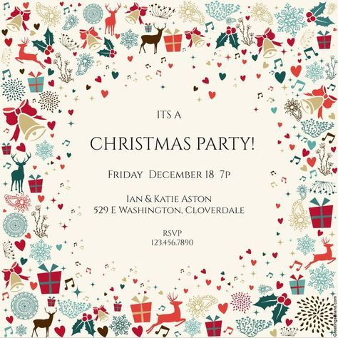 The 25+ best Free christmas invitation templates ideas on - party invitation template word