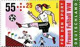 DPAG 2011 Für den Sport - Fußball-Weltmeisterschaft der Frauen, Stürmerin.jpg