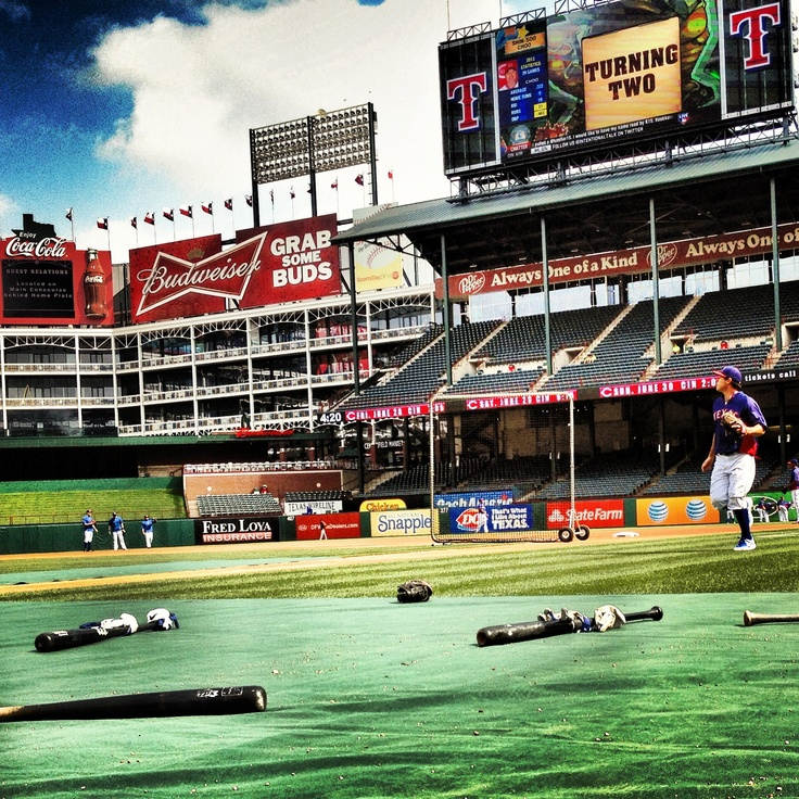 Blue Sky & Rangers Baseball.