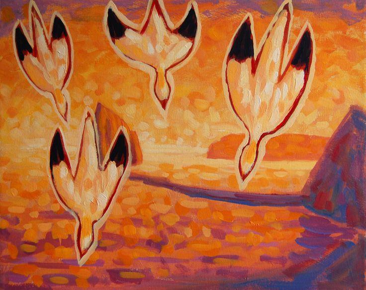 Les fous  acrylique sur toile   16 x 20po.  2013