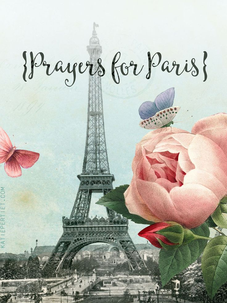 prayers for Paris 3x4 printable card