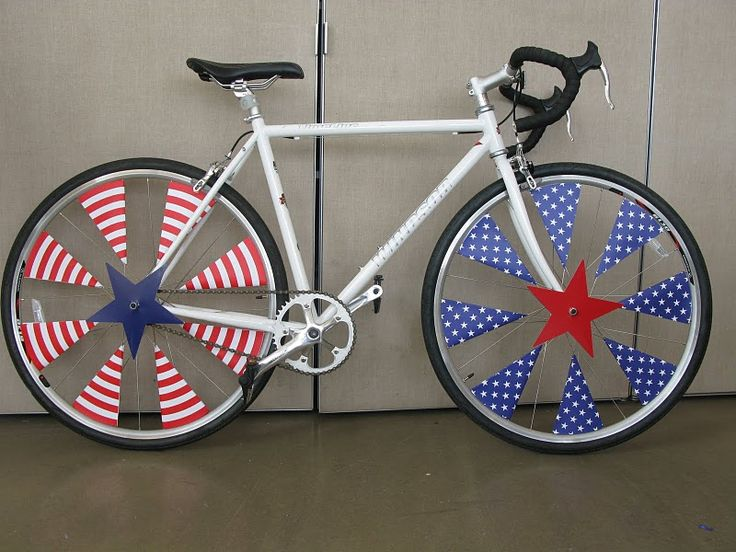 Very creative.: July Parade, Bikes Parade Decor,  All-Terrain Bikes, 4Th Of July, Patriots Bikes Decor, July 4Th, Parade Ideas, Bikes Decor Kids, Mountain Bikes
