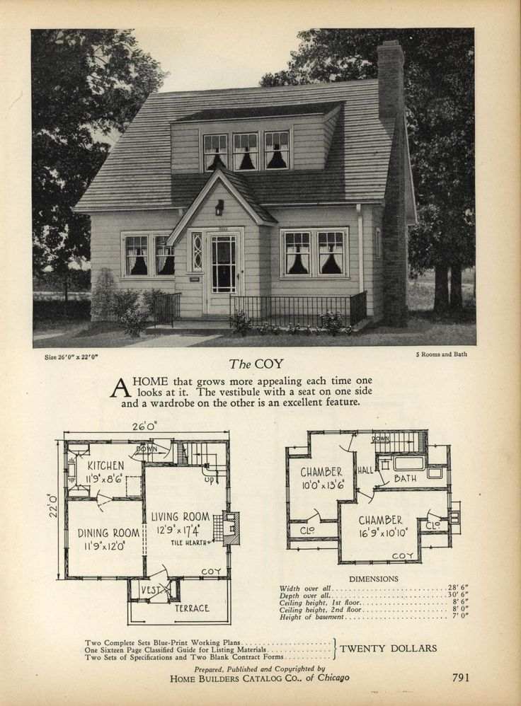 The COY   Home Builders Catalog: Plans Of All Types Of Small Homes By Home