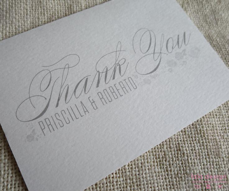 Priscilla & Roberto Thankyou Card