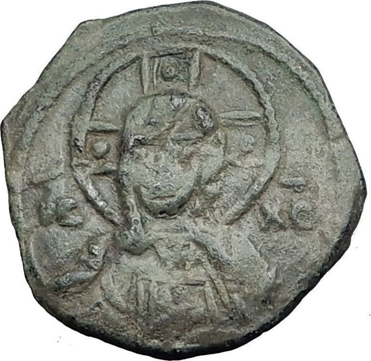 CRUSADERS Antioch Tancred Ancient 1101AD Byzantine Time Coin CHRIST CROSS i65116