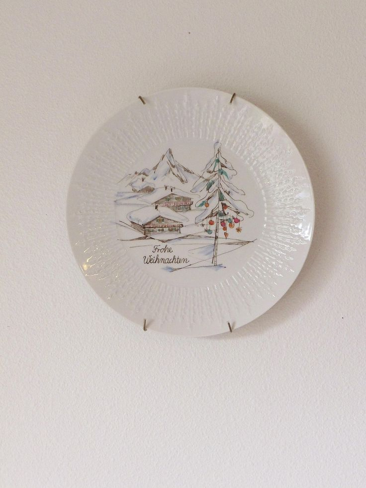 Mid Century German Christmas Plate Vintage Hutschenreuther Selb Bavarian Plate Vintage Xmas Dish Frohe Weihachten Merry Christmas Plate by BlendedSplendid on Etsy